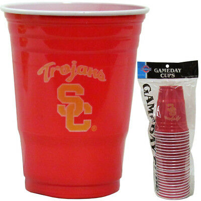 USC TROJANS PLASTIC GAMEDAY CUPS 18OZ 18CT SOLO TAILGATE PARTY SUPPLIES](Usc Party Supplies)