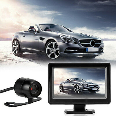 "4.3"" TFT LCD Car Rear View Kit Monitor+Night Vision 170° Car Reversing Camera UK"