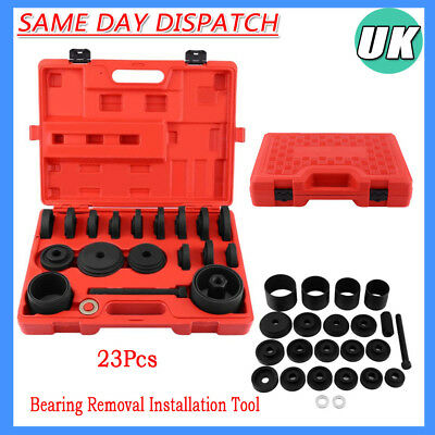 23Pcs Drive Bearing Removal Install Service Car Front Wheel Kits Tool with Case