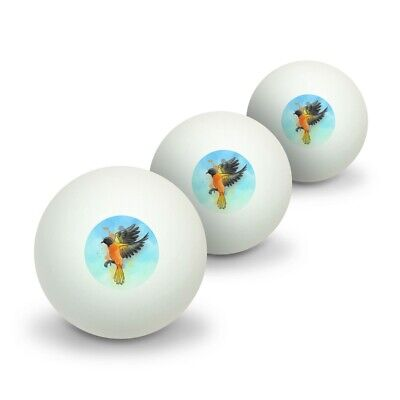 Baltimore Oriole Watercolor Northeastern Bird Table Tennis Ping Pong Ball 3 Pack
