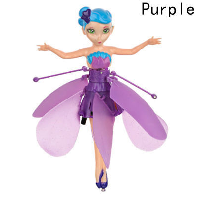 Purple Flying Fairy Magic  Doll Infrared Induction Control Dolls Xmas Gifts