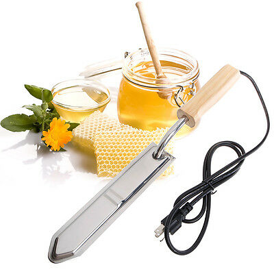 220v Electric Stainless Steel Extractor Uncapping Knife Bee Hive Honey Scraper