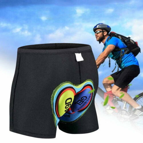 Fahrradhose Herren mit 3D Gel Sitzpolster Radhose Radlerhose Unterhose Unisex DE