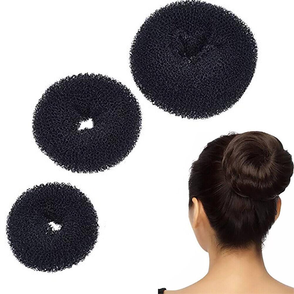 Details About 3pcs Donut Bun Maker Hair Bun Maker Hairstyle Diy Tool Ring Shaped Bun Maker Set