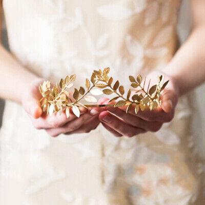 Headband Goddess Leaf Flower Girl Hair Crown Head Piece Rose Gold Band Bridal