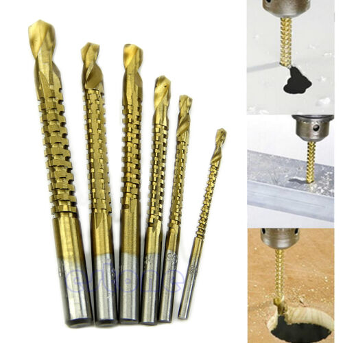6x Practical Ti Drill Bit Woodworking Wood Metal Cutting Hole Saw Holesaw HSS