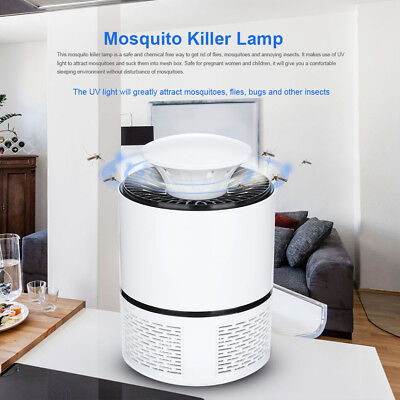 (5V USB Mosquito Killer Lamp Insect Fly Bug Zapper Trap Pest LED Control UV Light)