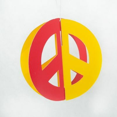 Tie Dye Groovy Peace Sign Party Supplies 3D Hanging Peace Sign Cutouts 6](Peace Sign Cutouts)