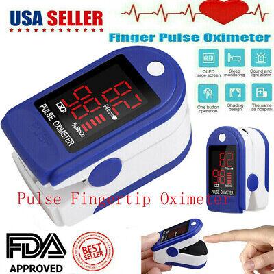 Finger Pulse Oximeter Blood Oxygen Spo2 Monitor Pr Saturation Heart Rate Fda