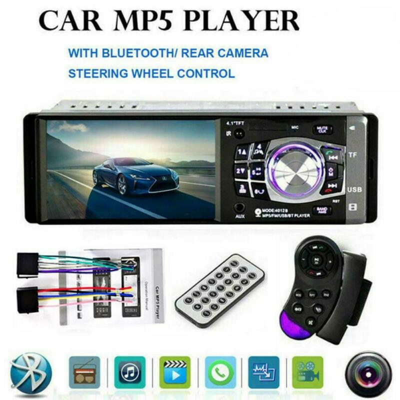 "4"" HD Single 1DIN Car Stereo Video MP5 Player Bluetooth FM R"