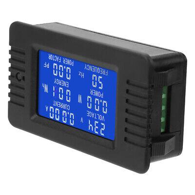 Ac Lcd Digital Panel Power Meter Monitor Voltage Current Kwh Voltmeter Ammeter