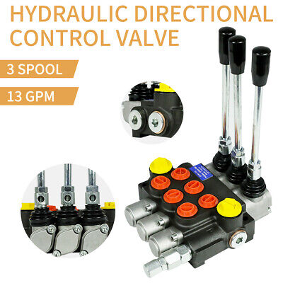 3 Spool Hydraulic Directional Control Valve Manual Operate 13gpm 3600psi Usa