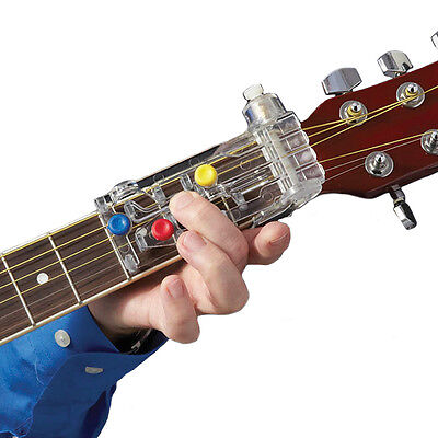 NEW Chord Buddy Guitar Learning System Works On Acoustic & Electric W/ 60 Songs