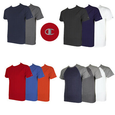 Champion Men's Short Raglan Sleeve Crew Neck Athletic T-Shirt Clothing, Shoes & Accessories
