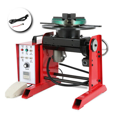 30kg Rotary Welding Positioner Turntable Timing 200mm 7.9in Chuck Foot Switch