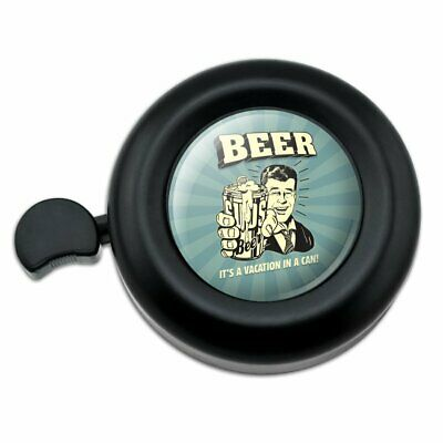 Beer It's a Vacation in a Can Funny Humor Bicycle Handlebar