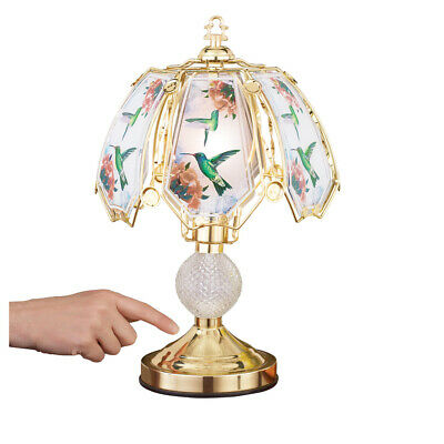 Hummingbird Touch Lamp with Gold-tone Base Base Flower Touch Lamps