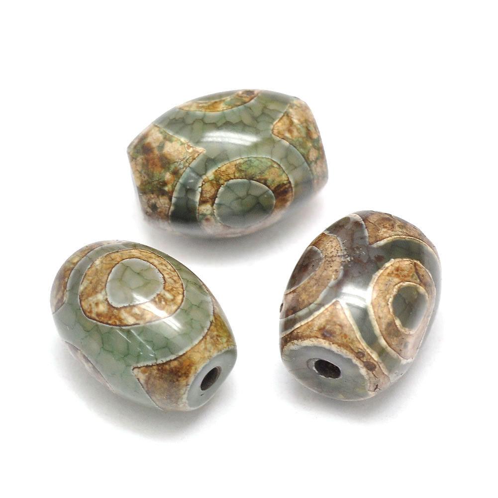 Tibetan Dzi  6 Eye Beads DIY Jewelry Making Projects