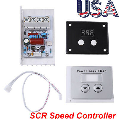 10000w 220v Ac Scr Electric Voltage Regulator Motor Speed Control Controller Us