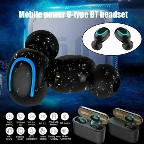 Waterproof Bluetooth 5.0 Earbuds Headphones Wireless Headset Noise Cancelling US Cell Phone Accessories