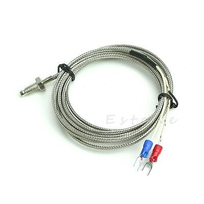 2m M6 K-type Screw Thermocouple Temperature Controller 0-600 Sensor Probe Q