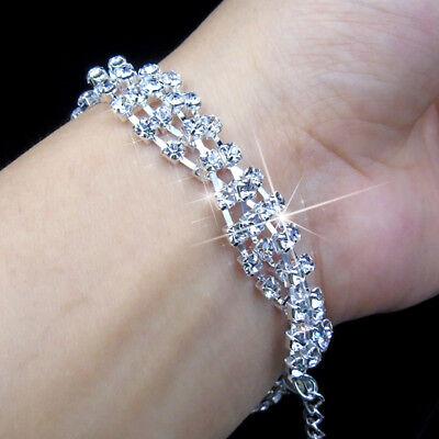 Women Shiny Rhinestones Bangle Ladies Bracelet Fashion Party Jewelry New Trendy