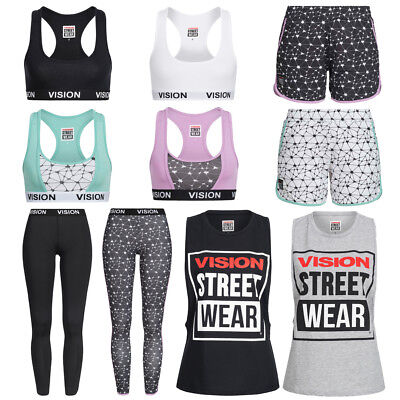 Vision Street Wear Frauen Fitness Sport Leggings Top Shorts Sport-BH Shirt Short