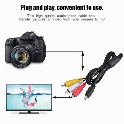 Video Audio AV Cable Mini USB to 3 RCA for Canon Camera...