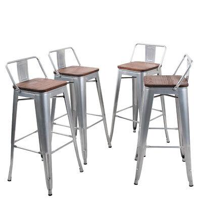 4× Metal Steel Barstool 30