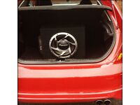 Pioneer subwoofer speaker with built in amp fit any car honda/vauxhall/volkswagon/renault