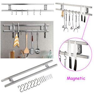 6 Haken Doppel Barmesser Küchenleiste Küchenhelfer Küchenrel Magnetic Edelstahl