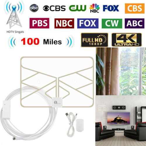 1byone50 Miles Digital TV Antenna  Signal Booster Amplifier