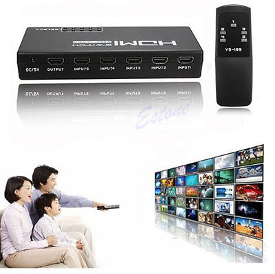 5 Ports Switch Switcher 1080P Remote HDMI Selector Splitter For HDTV PS3 DVD STB on Rummage