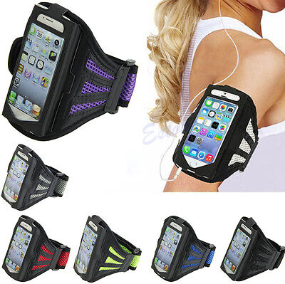 Outdoor Gym Sport Workout Running Adjustable Armband Case Cover For iPhone 5S 5C