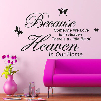 DIY Removable Art PVC Vinyl Quote Wall ...