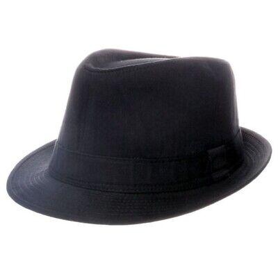 Klassisch Einfach Schwarz Baumwolle Trilby Fedora Hut - Unisex Kostüm - - Einfache Kostüm Schwarz