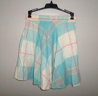SCHOOL GIRL plaid mini skirt juniors size 1 throwback Cosplay sexy retro