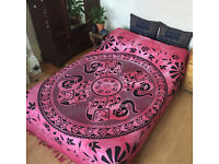 Indian Bedspread Bedding Throws Bed Sofa Wall Tapestry Wall Hanging Elephant Double Bed Hippie Boho