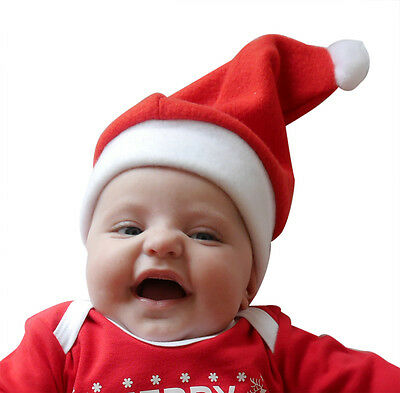 Christmas Baby Hats - Santa and Elf - Green / Red - Available In all Baby Sizes