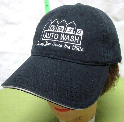 1950s Mens Hats | 50s Vintage Men's Hats RUSS AUTO WASH Otto baseball hat Toledo carwash logo cap Serving Since the 1950s $24.00 AT vintagedancer.com