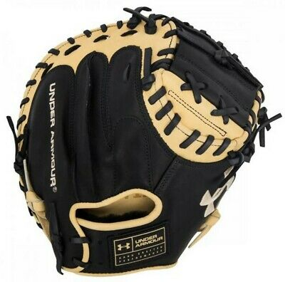 "Under Armour Baseball Genuine Pro 34"" Catchers Mitt Glove (Black/Cream RHT)"
