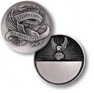 Harley Davidson / Live to Ride Eagle ~1.75oz Silver Proof Challenge Coin