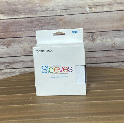 Memorex 01961 Cddvd Paper Sleeves White 100 Pack