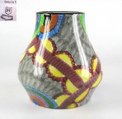 Schramberg Keramik Vase Gobelin 1 Eva Stricker-Zeisel Design Art Deco 20er 30er