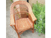 Large Wicker or Cane Chair - Conservatory, Patio, Bedroom