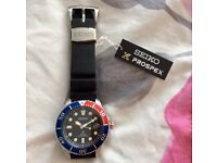 SEIKO SOLAR Prospex divers watch, SNE439P1. 200m, perfect, unmarked condition.
