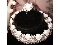 Pearl Ring, Art Deco style.