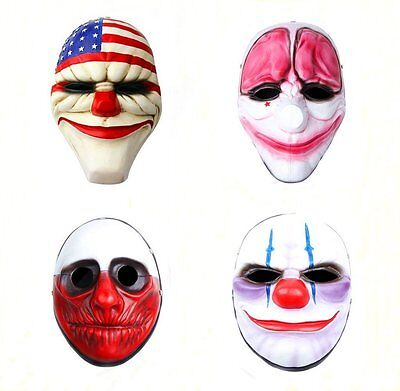 Halloween Festival Costume Resin Mask Payday 2 Dallas,Hoxton,Wolf,Chains - Payday 2 Halloween Costumes