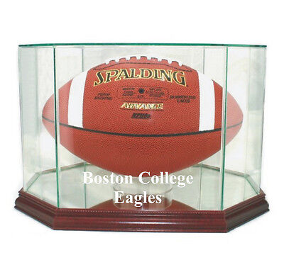 - Boston College Eagles F/S Glass Football Display Case NFL New UV FREE SHIPPING