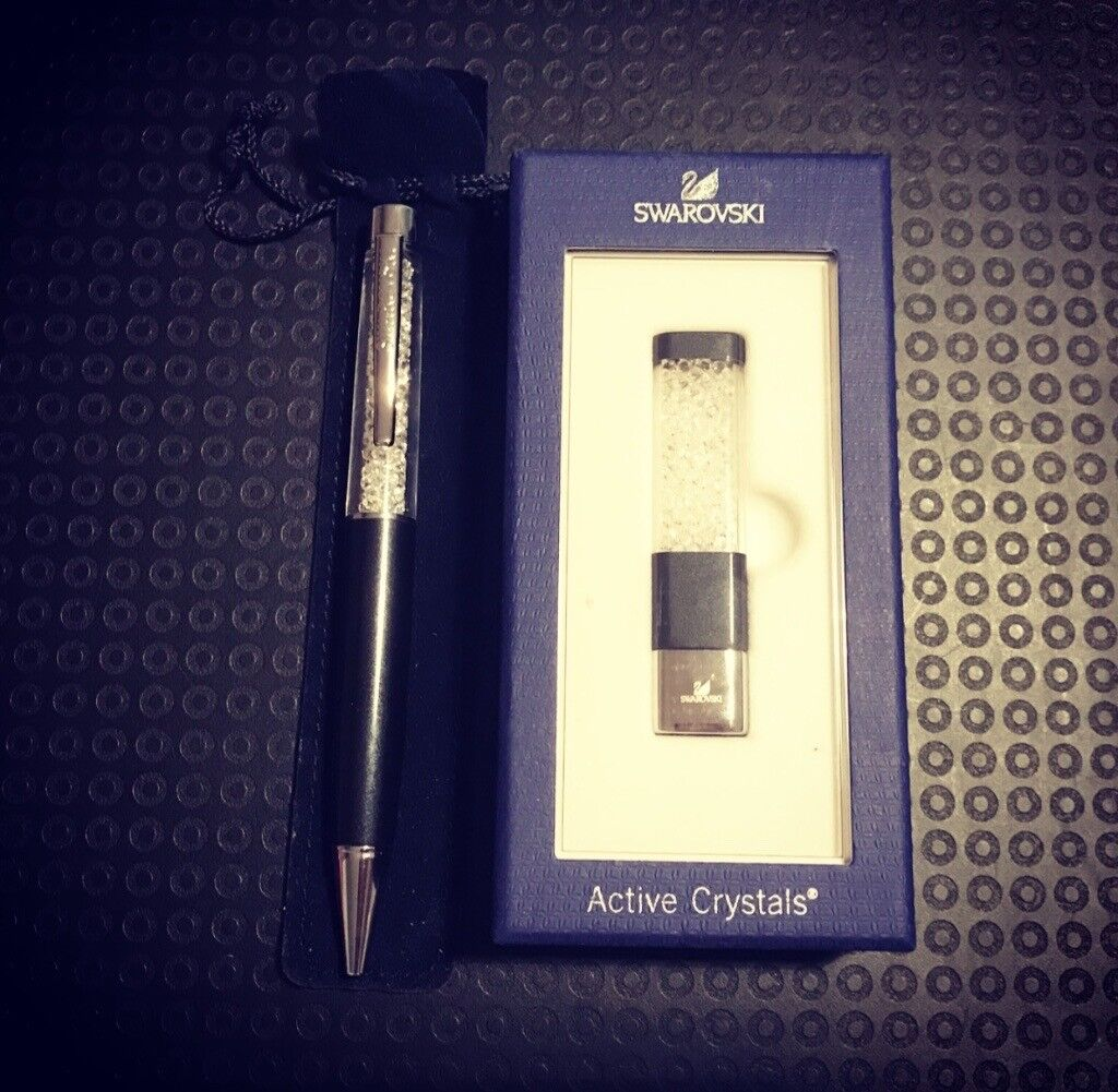 Swarovski Crystals Pen & USB Stick Set